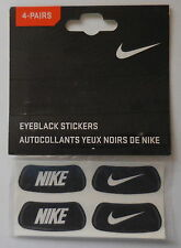 Nike EyeBlack Stickers Set Of 4 Pairs White/Black Adult Unisex New