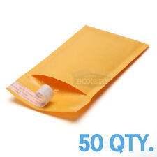 50 #000 Kraft Bubble Padded Envelopes Mailers 4 x 8 from TheBoxery