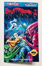 Splatterhouse 2 - Sega Genesis - Reproduction Manual, Instruction Booklet - US