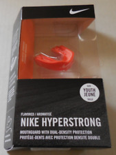 Nike Youth Hyperstrong Mouthguard Dual-Density Protection-Orange Flavor New