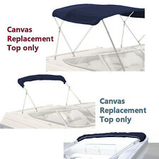 """BIMINI TOP BOAT COVER CANVAS FABRIC NAVY W/BOOT FITS 3 BOW 72""""L 36""""H 67""""-72""""W"""