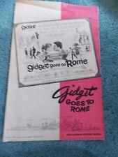 GIDGET GOES TO ROME(1963)JAMES DARREN ORIGINAL PRESSBOOK