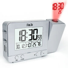 Smart Digital LED Projection Alarm Clock Time Temperature Projector LCD Display