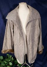 New Wool Tweed VALENTINO SAKS FIFTH AVE Jacket with Fur Cuffs Sz 14 $3900