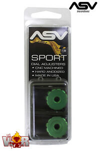 ASV Inventions Dial Adjusters Green