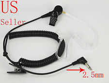 2.5mm Listen-Only Acoustic Headset Earpiece For Icom Vertex Yaesu 2 Way Radio