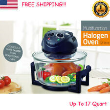 17 Quart 1200W Halogen Oven Convection Countertop Bake Fry Steam Food Cooker New