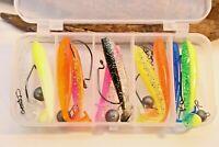 Cheburashka Set mit 10 Gummifischen 7cm und 5 Gewichten sowie 5 Haken & Wirbel