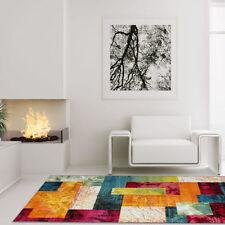 Tapis multicolores avec des motifs Patchwork pour le salon