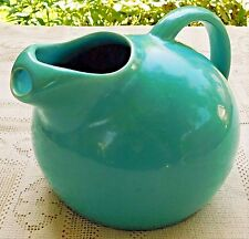 VINTAGE MID-20th CENTURY ART POTTERY TURQUOISE PITCHER W/ GLAZE FINISH