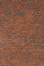 16 SHEETS EMBOSSED BUMPY BRICK paper stone wall 21x29cm  SCALE 1/27  g