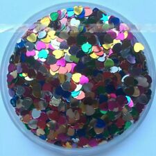 Mixed Colors Rainbow Hearts Nail Art Glitter Acrylic Gel Naip Polish Solv-Rstnt