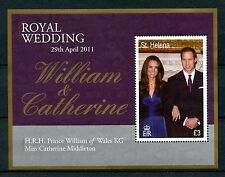 St Helena 2011 MNH Royal Wedding Prince William & Kate 1v M/S Royalty Stamps