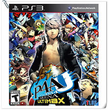 PS3 Persona 4 Arena Ultimax P4 SONY PlayStation Atlus Fighting Games