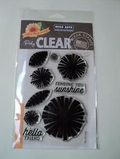 """Hero Arts Color Layering Graphic Flowers 4""""x6"""" Clear Stamp Set Cl862"""
