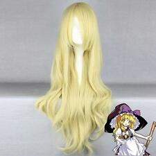 Tōhō Project Kirisame Marisa,blonde long Bouclé anime Cosplay perruques Wigs