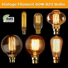 Regolabile B22 60W Edison Vintage Filamento Lampadina Globo Luce UK