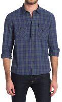 Civil Society Mens Shirt Green Blue Medium M Button Down Plaid Flannel $79 208