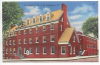 Postcard Linen VT Community YMCA Burlington Vermont Nice Red Brick Building  C14