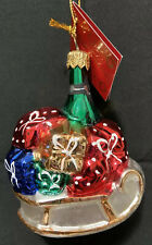Home for the Holidays Ornament Made In Poland Blown Glass Artisans Sled w/ Gifts