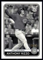 2020 Big League Base Black & White #72 Anthony Rizzo /50 - Chicago Cubs