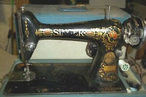"Antique 1910 Singer Sewing Machine Model 66 ""Red Eye""  G868660"