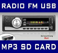 AUTORADIO LETTORE MP3 SD-CARD 64GB CHIAVETTA USB RADIO 1DIN ISO AUX