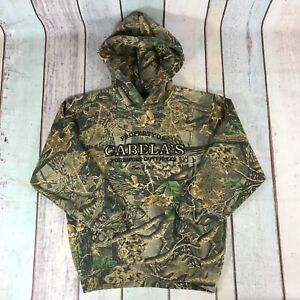 Cabelas Kids Hoodie Sweatshirt Pullover Realtree Camo Seclusion 3D Hunting L
