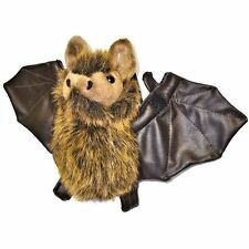 Bat Toy with Soft Leather Effect Wings By Dowman Soft Touch - Plush Cuddly Toy