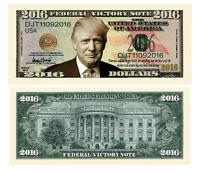 100 Donald Trump President Money Dollar Bills 2016 Federal Victory Note Lot