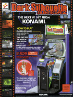 DARK SILHOUETTE Silent Scope 2 Konami Original VIDEO Arcade Game Flyer Nice Art