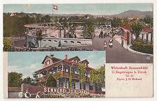 Ak Wirtschaft Sennenbühl U.Engstringen Bei Zürich 1926 ! (A2135