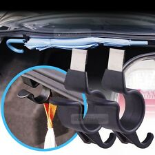 Rear Trunk Umbrella Hook Multi Holder Hanger Hanging Black 2pcs for BMW Car