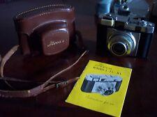 ILOCA RAPID II L CAMERA w/Steinheil Munchen Cassar S f/2.8 50 mm Lens w/Case-EUC