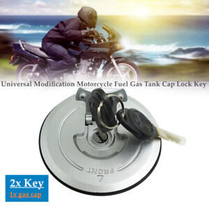 Universal Modification Motorcycle Fuel Gas Tank Cap Cover Lock w/ Key Kit
