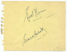 Errol Flynn and Bruce Cabot Signatures on Album Page