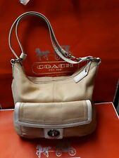 ~COACH~#F19046 Beige Cream Peebled Leather HandBag Convertible Shoulder