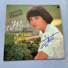 MIREILLE MATHIEU In-person signed Schallplatte/Vinyl Autogramm selten!