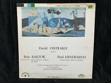 DAVID OISTRAKH violin - BARTOK & HINDEMITH Concertos - SOVDISC CDM ST LP france
