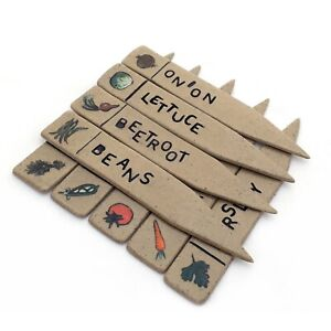 Ceramic Seed Markers, Vegetable Markers, Herb Markers, Decorative Item