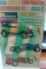 Vintage Monogram 3 in1 1930 Ford Phaeton Customizing Kit #Pc64-198~Parts Only
