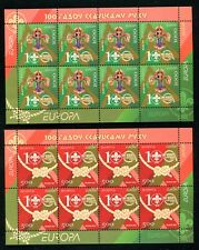 Belarus 618-619, MNH, Scouting Emblem Scouting Centenary 2007. x34268