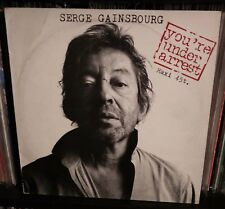 """Serge Gainsbourg – You're Under Arrest 12"""" with Curtis King Jr. France Issue"""