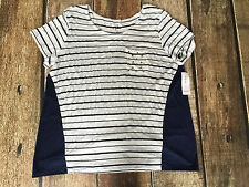 STYLE CO STARS STIPES POCKET TEE INK WOMENS SIZE XL NEW WITH TAGS