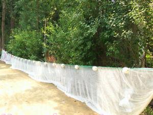 Customize Bait Seine/ Drag Nets-10x10mm or 5x5mm Meshholes Nylon Fishing Net