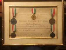 5 medaglie e diploma  PER MERITI DI STUDIO SCUOLA VITT. AMEDEO TORINO   cvfq4/17