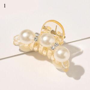Women Pearl Rhinestone Hair Clip Hair Claws Ornaments Barrettes Ponytail Holder