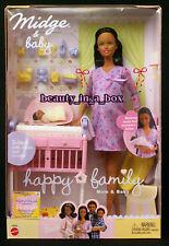 Pregnant Midge Doll Happy Family African American AA Baby Bump