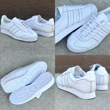 NWOB SZ 7.5 2017 ADIDAS SAMOA LOW TOP SHOES SNEAKERS WHITE LEATHER PERF CROSS