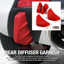 Bumper Diffuser Molding Aero Parts Lip Fin Body Spoiler Chin Red for LINCOLN Car